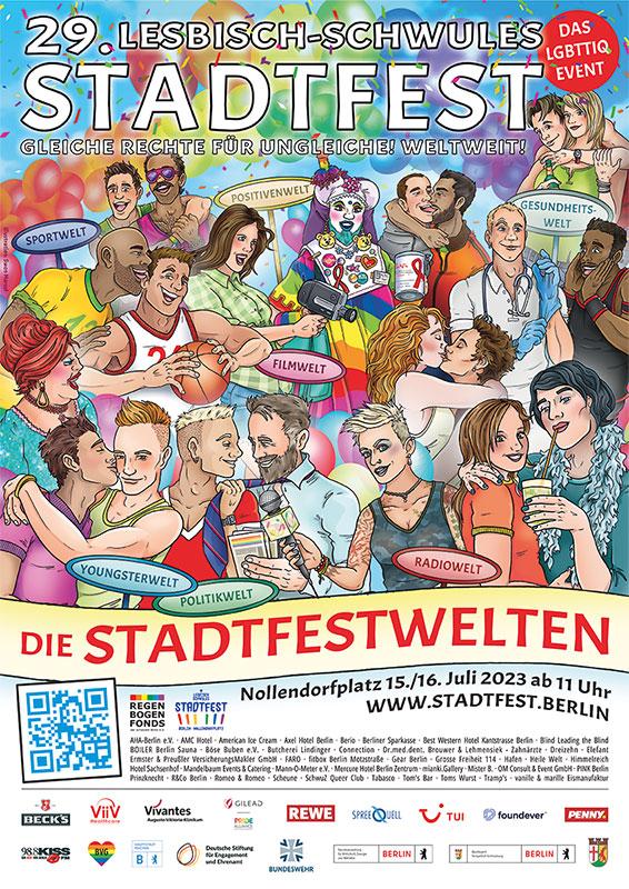 plakat gross - Lesbisch-schwules Stadtfest 2019: Gleiche Rechte für Ungleiche!